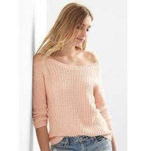 Gap Pointelle Boatneck Sweater